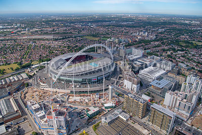 London, aerial view of Wembley Stadium
