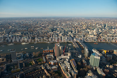 Aerial view of Blackfriars, London