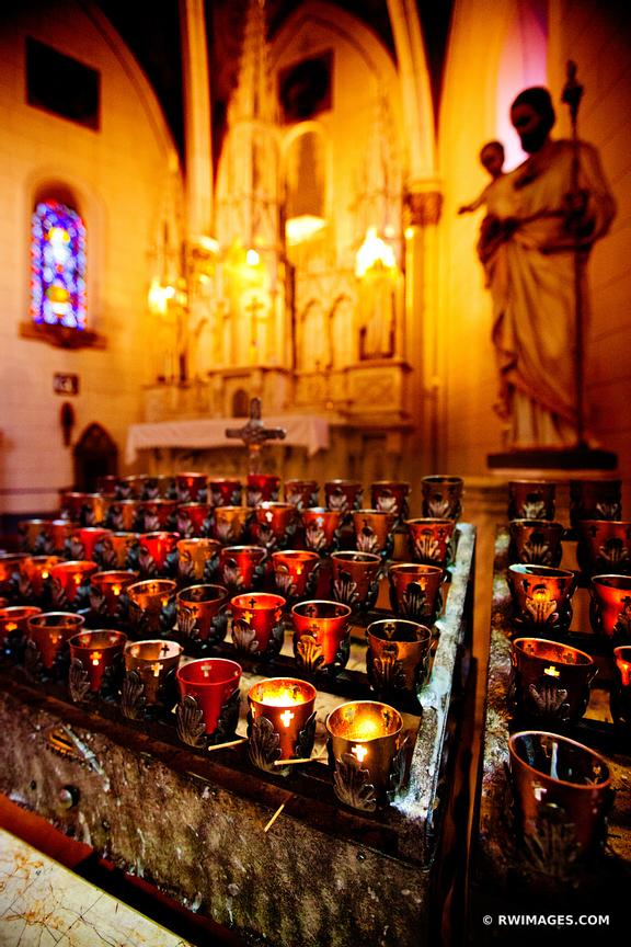 PRAYER CANDLES LORETTO CHAPEL SANTA FE NEW MEXICO