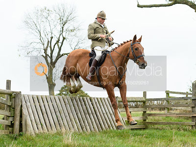 Bruce McKim jumping a hunt jump near Peake's. The Cottesmore Hunt at Somerby