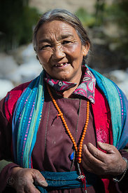 Ladakhi woman in the farming village of Ney, Ladakh, India
