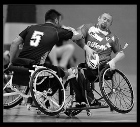 International Wheelchair Rugby League - England v France at Medway Park