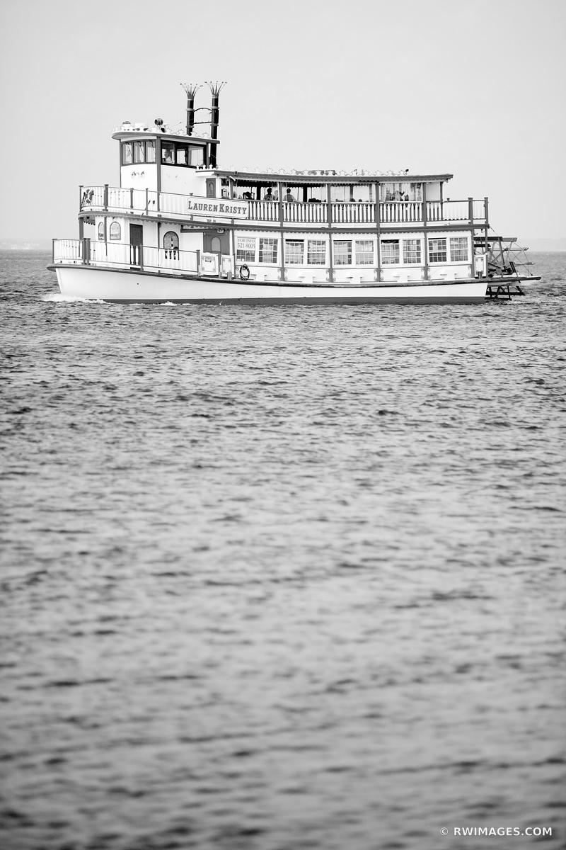 PADDLEBOAT FIRE ISLAND / LONG ISLAND NEW YORK BLACK AND WHITE VERTICAL