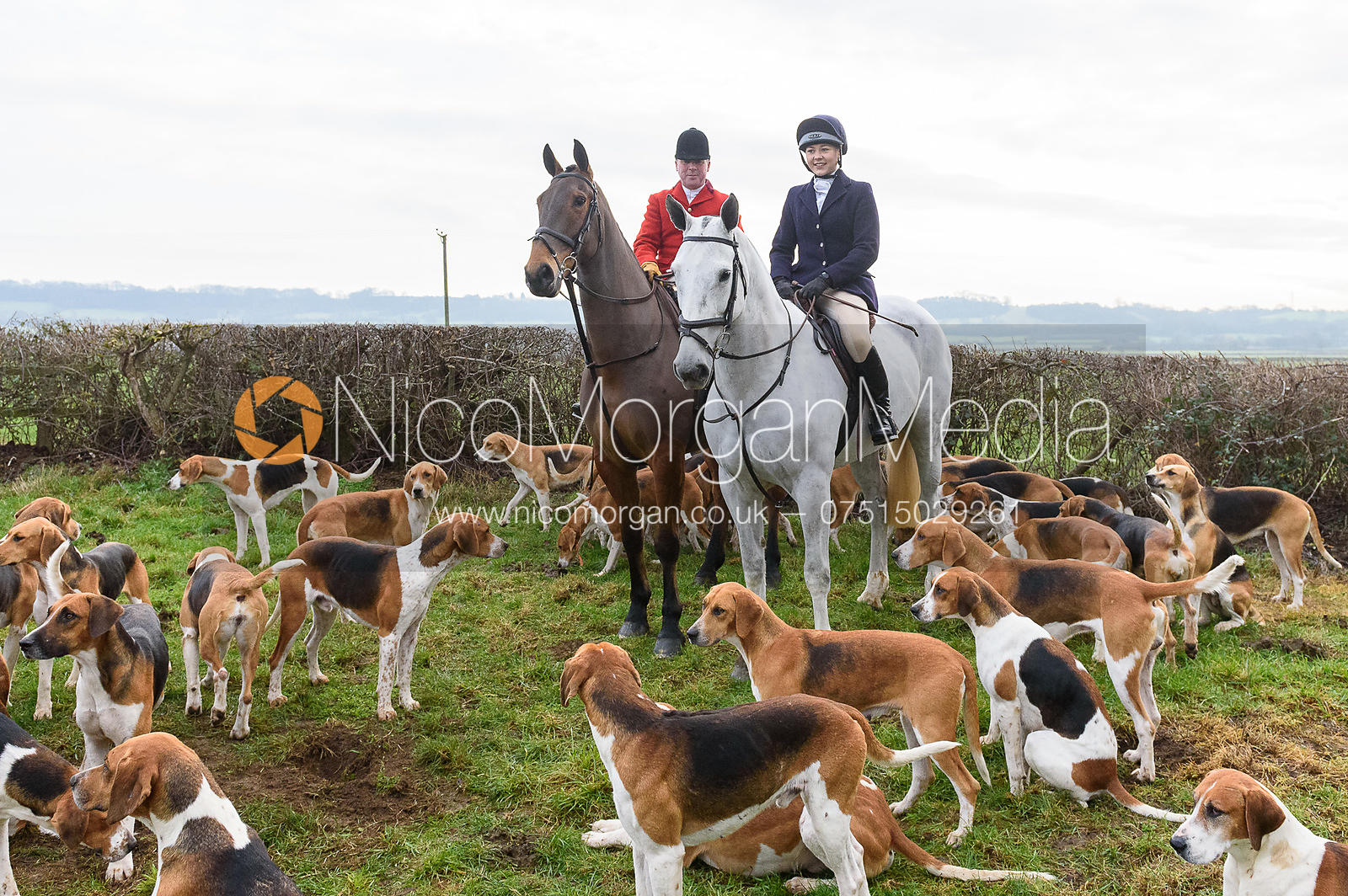 Sophie Pedlar At the meet. The Belvoir Hunt at Highfield Farm 12/12