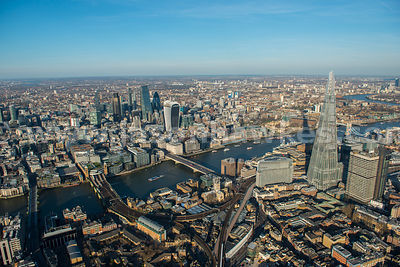 Aerial view of Borough Market and the City, London