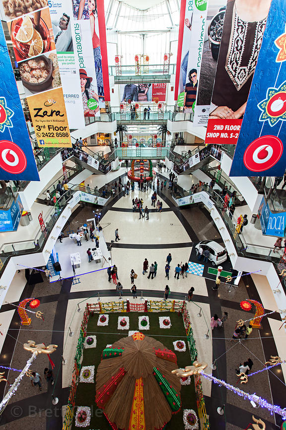 South City Mall in Kolkata, India, decorated for the Durga Puja festival in October. South City is the largest mall in East I...