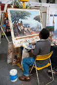 Artist at work, Craft market, Victoria & Alfred Waterfront, Cape Town, South Africa