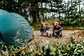 Two girls camping in Denmark 10