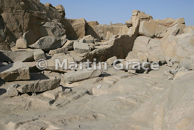 The Northern Quarries, Aswan, from which the ancient Egyptians quarried syenite (red granite) for obelisks, colossi and temples