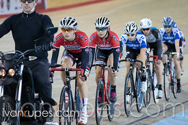 Junior Women Keirin 7-12 Final. Canadian Track Championships (U17/Junior), April 3, 2016