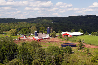 Dairy farm in the Catskills, New York