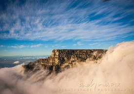 Table Mountain and clouds