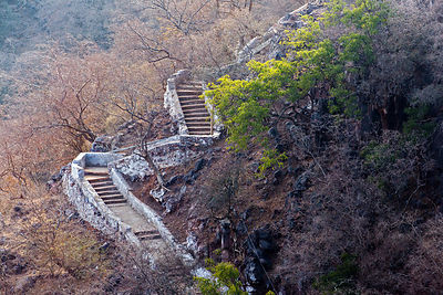 Stairway leading to Nand Temple, Nand village, Rajasthan, India