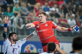 Tin KONTREC of PPD Zagreb, Dainis KRISTOPANS of MESHKOV BREST during the Final Tournament - Final Four - SEHA - Gazprom leagu...