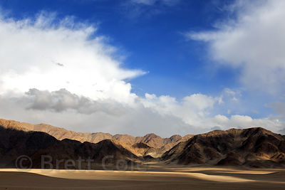 Clouds and light on the Himalayan desert near Phyang Village,  Ladakh, India