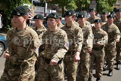 Army Cadets Marching along Horsefair