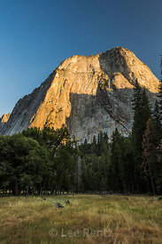Sunset Light on the Peaks above Yosemite Valley in Yosemite National Park