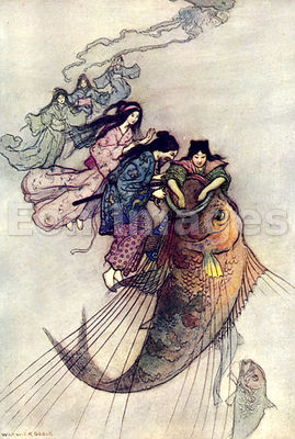 The Sea King and the Magic Jewels by Warwick Goble