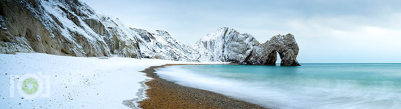 Durdle Door Snow 2018