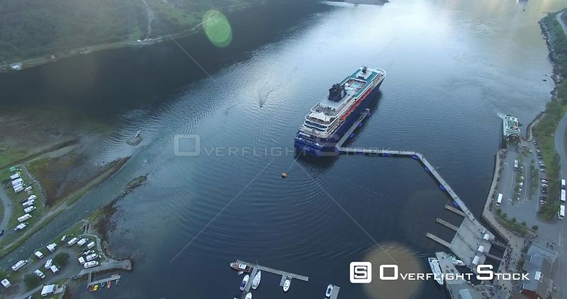 Scenic Geiranger Fjord With Cruise Ships Norway