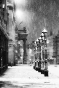 Grey Street Lamps in the snow