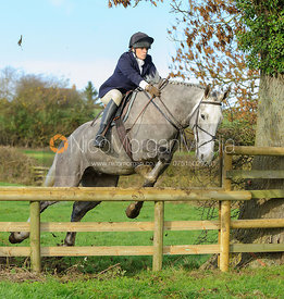 Kate Willett jumping a hunt jump