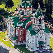 Russia, Mari El Republic. Yurino urban-type settlement. The Church of St. Michael the Archangel.