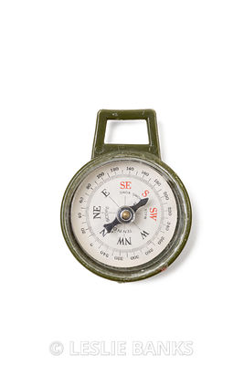 Vintage Plastic Army Compass