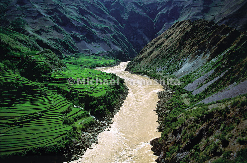 The inhospitable gorges carved by the Mekong near Lanping, in northern Yunnan, keep the river unused and unnavigale until its...
