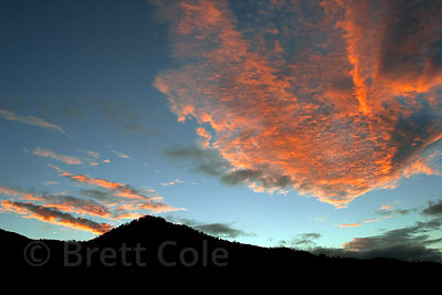 Sunrise over the Las Nubes Reserve, Costa Rica.