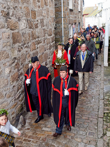 the St Ives Feast procession in the Digey
