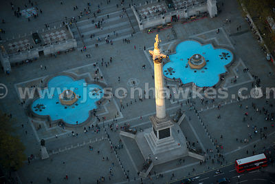 London. Aerial view of Trafalgar Square