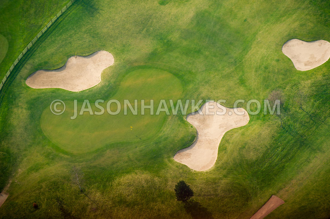 Aerial view of Vale Royal Abbey Golf Club, Cheshire