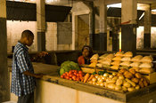 Mozambique, Beira, the City Market is housed in the old fort and jail.