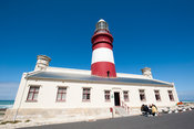 Lighthouse at Cape Agulhas, Agulhas National Park, South Africa