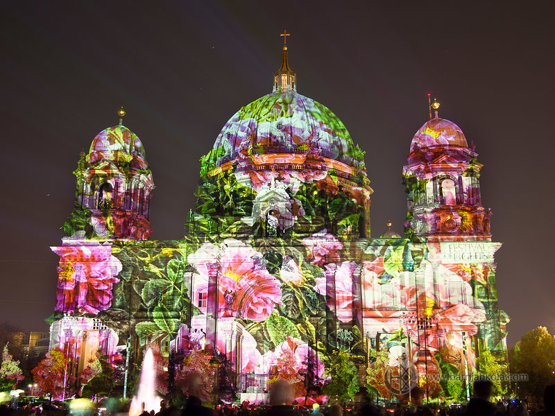 Germany - Berlin (Festival of Lights - Berliner_Dom_Roses)
