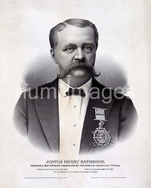Justus Henry Rathbone, founder & past supreme chancellor of the Order of Knights of Pythias ca 1890