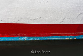 Stripes on a Boat Hull in Newport, Oregon
