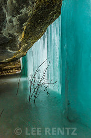 Curtains Ice Formation in Pictured Rocks National Lakeshore
