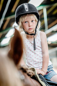 Young Danish girl riding a horse 4
