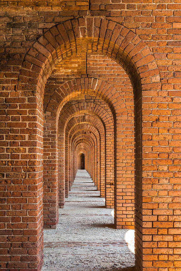 Arches of Fort Jefferson in Dry Tortugas National Park