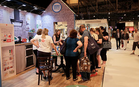 SEC, Glasgow.26.5.17.Love Food Hate Waste at the Eat and Drink Festival and ZWS at the Ideal Home Show...More info from Clair...