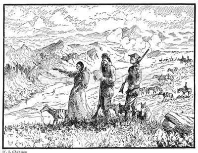 Sacajawea with Meriwether Lewis and William Clark