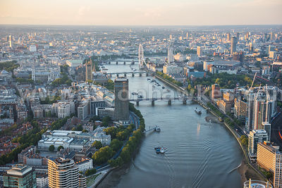 The River Thames in Central London