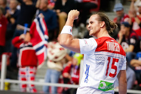 Kent Robin Tonnesen during the EHF EURO Croatia 2018 - Preliminary round -  Group B - Norway vs Belarus in Zatika Sports Cent...