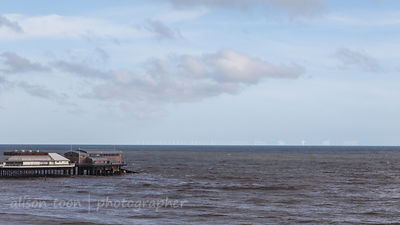 Cromer pier and wind farm