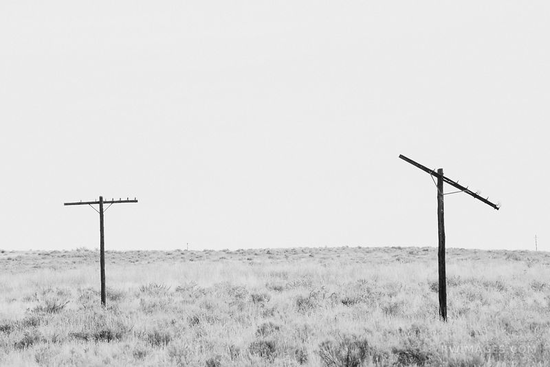 POWERLESS - ROUTE 66 NORTHERN ARIZONA BLACK AND WHITE
