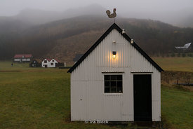 A house in the Skogar Museum on the Southern coast of Iceland