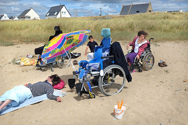 "The holiday center ""Le Grand Larg"" of the Association of paralyzed France on the Quiberon peninsula."