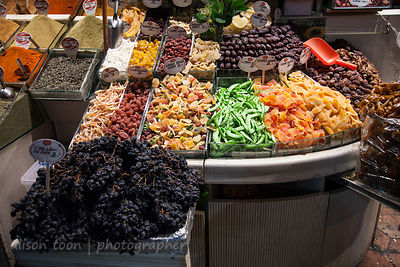 Ddried fruits for sale in the spice market, Istanbul